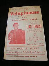 Partition Voluptueuse Harlé Léon Fermont Music Sheet