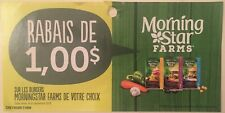Lot of 10 x 1.00$ Morning Star Farms Products Coupons Canada