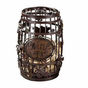 Wine Barrel Cork Cage--Elegant Display Cork Holder Perfect for Bar Lover
