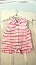 Gymboree Pink and White Striped Poplin top, Size 6