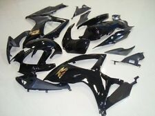 Black w/ Gold Fairing Injection for 2006-2007 Suzuki GSXR GSX-R 600 750
