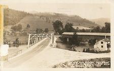 Dawson Camp WV * Old New Bridges over Cheat River RPPC 1940 Preston Co.