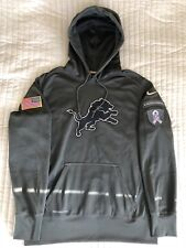 NIKE Detroit LIONS Salute To Service Hoodie Pullover L NFL Football USA RAR