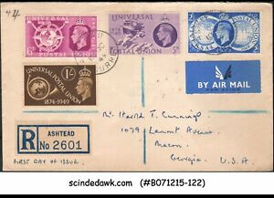 GREAT BRITAIN - 1949 75th ANNIVERSARY OF UPU - 4V - FDC REGISTERED