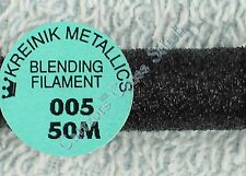 Kreinik Blending Filament 005 Black Metallic Thread 50M Cross Stitch