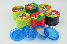 DRY HERB GRINDER 4 PC MAGNETIC ACRYLIC BOB MARLEY GRINDER WITH STORAGE/STASH