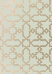 2 Dbl Rolls SCHUMACHER 5005921 CÓRDOBA Mist Tile Inspired Wallpaper $540 Retail
