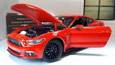 1:24 Echelle Ford Mustang 2015 2.3 3.7 5.0 V8 GT Rouge Welly Voiture Miniature