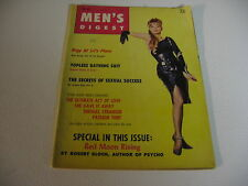 MEN'S DIGEST Mag-Girlie Pinup- OCT 1964 TOPLESS BATHING SUIT; RED MOON RISING