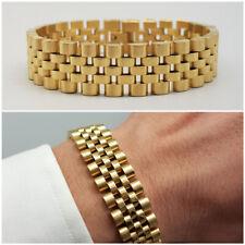 Bracciale uomo acciaio maglia con braccialetto in oro catena da regolabile inox