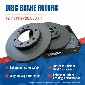 Pair Front Vented Disc Brake Rotors for Rover 3500 SD1 1982-1986 Premium Quality