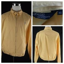 Ralph Lauren Polo 80s Vtg Full-Zip Yellow Canvas Flight/Bomber Jacket XL