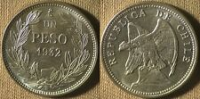 Chile : 1932  1 Peso  Gem BU Gorgeous Lots Of Luster  # 174  IR4122A
