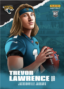 PS TREVOR LAWRENCE 2021 PANINI INSTANT NFL DRAFT NIGHT ILLUSTRATION ROOKIE RC