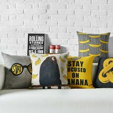 Novelty Funny Pop Art Gorilla Banana Striped Cushion Cover Throw Pillow Case