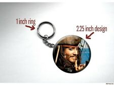 PIRATES OF THE CARIBBEAN Jack Sparrow SMILE Johnny Depp 2.25 inch Key Chain
