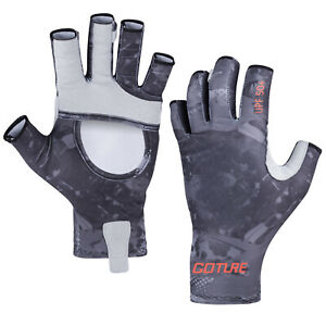 Goture Fishing Gloves Sun Protection Half Finger Summer Outdoor Sports Gloves