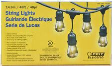 Feit Electric 24 Lights / 48ft Outdoor Light String 36 Bulbs (12 Extra Bulbs)