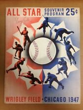 1947 All Star Baseball Game @Wrigley Signed 2X by Boxer Tony Zale(read why) JSA