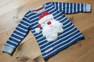 Baby Boys NEXT Long Sleeved Cotton Christmas Top. Santa. Age 12-18 Months.