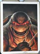 Dave Rapoza TMNT Raphael Poster Signed/Eric Talbot Museum Grade Print Art RARE