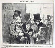 Honore Daumier France 1808 -1879 Lithograph Dans La Salle Des Venes No. 2