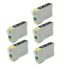5PK Hi-Yield BK Ink For Epson 68 T0681 69 T0691 WorkForce 30 40 500 600 610 615