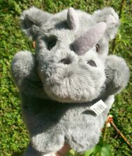 Vintage RHINO GREY CHILD'S HAND PUPPET By RAV RUSHDEN