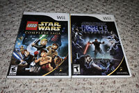 Star Wars: The Force Unleashed & LEGO Complete Saga Nintendo Wii Lot Bundle