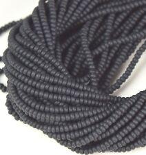 "Czech Glass Seed Beads Size 10/0 "" BLACK MATTE "" Strands"
