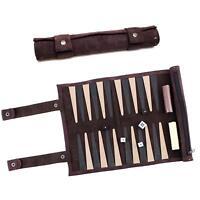 19.75 in ID 61625 Classic Backgammon Set in Black Leatherette Case