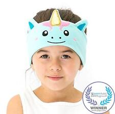 Kids Headphones Comfy Fun Headband 3.5mm Jack Unicorn Design Blue CozyPhones New