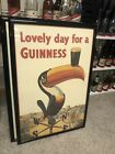 Guinness Beer Sign From The 1950s Old Bar Sale Toucan Vintage Framed