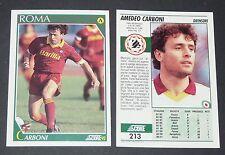 213 CARBONI AS ROMA FOOTBALL CARD 92 CALCIATORI 1991-1992 CALCIO ITALIA SERIE A