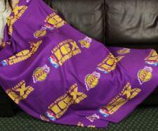 Los Angeles Lakers NBA Basketball Fleece Throw Blanket by Northwest