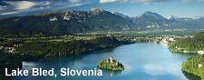 PANORAMA FRIDGE MAGNET of LAKE BLED SLOVENIA