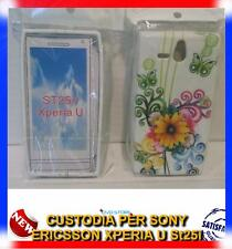 Pellicola+Custodia cover case MARGHERITA GIALLA per ST25i Sony Xperia U