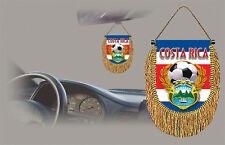 COSTA RICA SOCCER FLAG CAR MINI BANNER, PENNANT