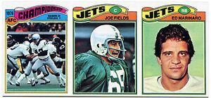 1977 Topps KEN STABLER AFC ED MARINARO JOE FIELDS 1/1 Uncut Sheet Strip Vault