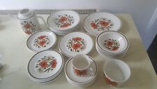 VINTAGE SELECTION VARIED LISTING J & G MEAKIN POPPY  PLATES CHINA 1960s