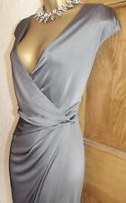 FLAWED ❤️ BNWT £60 WALLIS Silver Long Lace Evening Ball Gown Party Dress Size 18