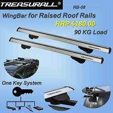 Treasurall Wingbar Roof Racks Cross Bars 90kg 2Yrs Warranty Lockable 1280mm