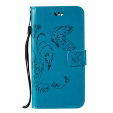 Butterfly PU Leather Magnetic Flip Stand Card Slot Wallet Case Cover for LG HTC