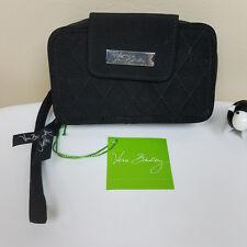 Vera Bradley Smartphone Wristlet Wallet Purse Clutch Black Microfiber New w/tags