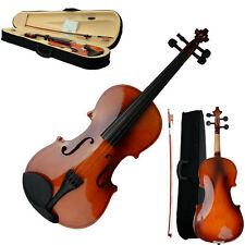 New 4/4 Full Size Soild Natural Acoustic Violin Fiddle Christamas Gifts for You