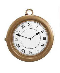 Hip Hop Rapper Clock Oversized White Rabbit Clock Non-Functioning Gold