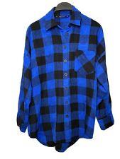 Zara Basic Women's  Shirt Long Sleeve  Size XS Blue And Black Color