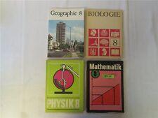 4 x DDR Schulbuch 8. Klasse Lehrbuch 1976-1990 Biologie Physik Mathematik Geogr.