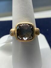 Large Smokey Quartz 14kt Gold Ring