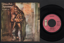 """7"""" JETHRO TULL AQUALUNG / HYMN 43 MADE IN ITALY PINK ISLAND LABEL 1971 PROG ROCK"""